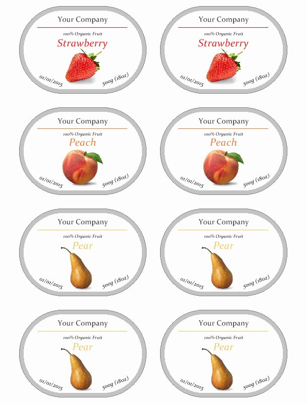 Free Jar Label Template Best Of Jam Label Template Free