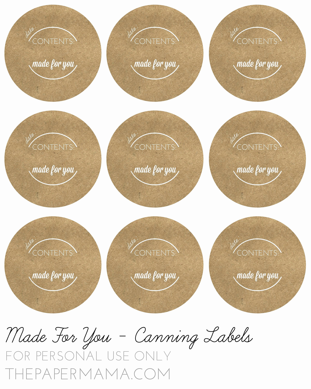 Free Jar Label Template Inspirational Mason Jar Lid Labels Google Search