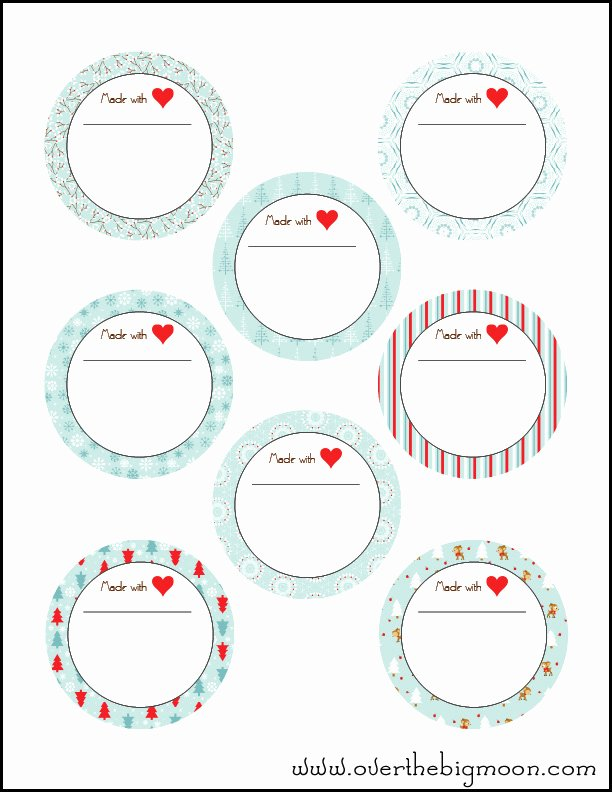 Free Jar Label Template New Free Xmas Labels Printable