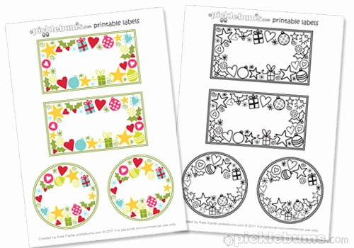 Free Jar Label Template Unique 2011 Christmas Printable Series Jar Labels and A