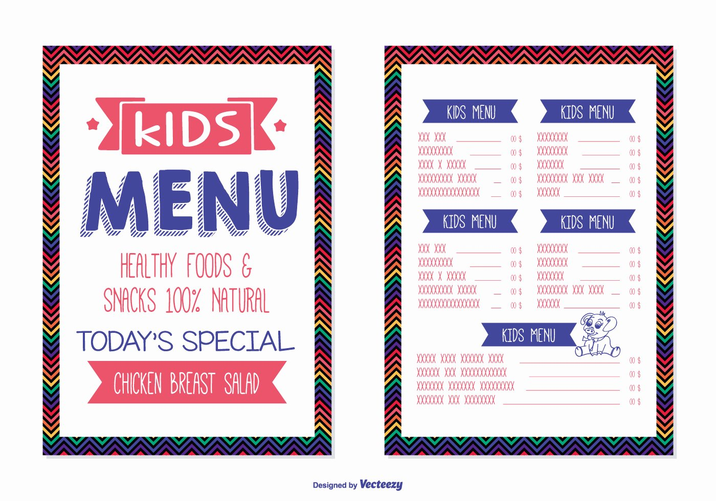 Free Kids Menu Template Beautiful Kids Menu Template Download Free Vector Art Stock