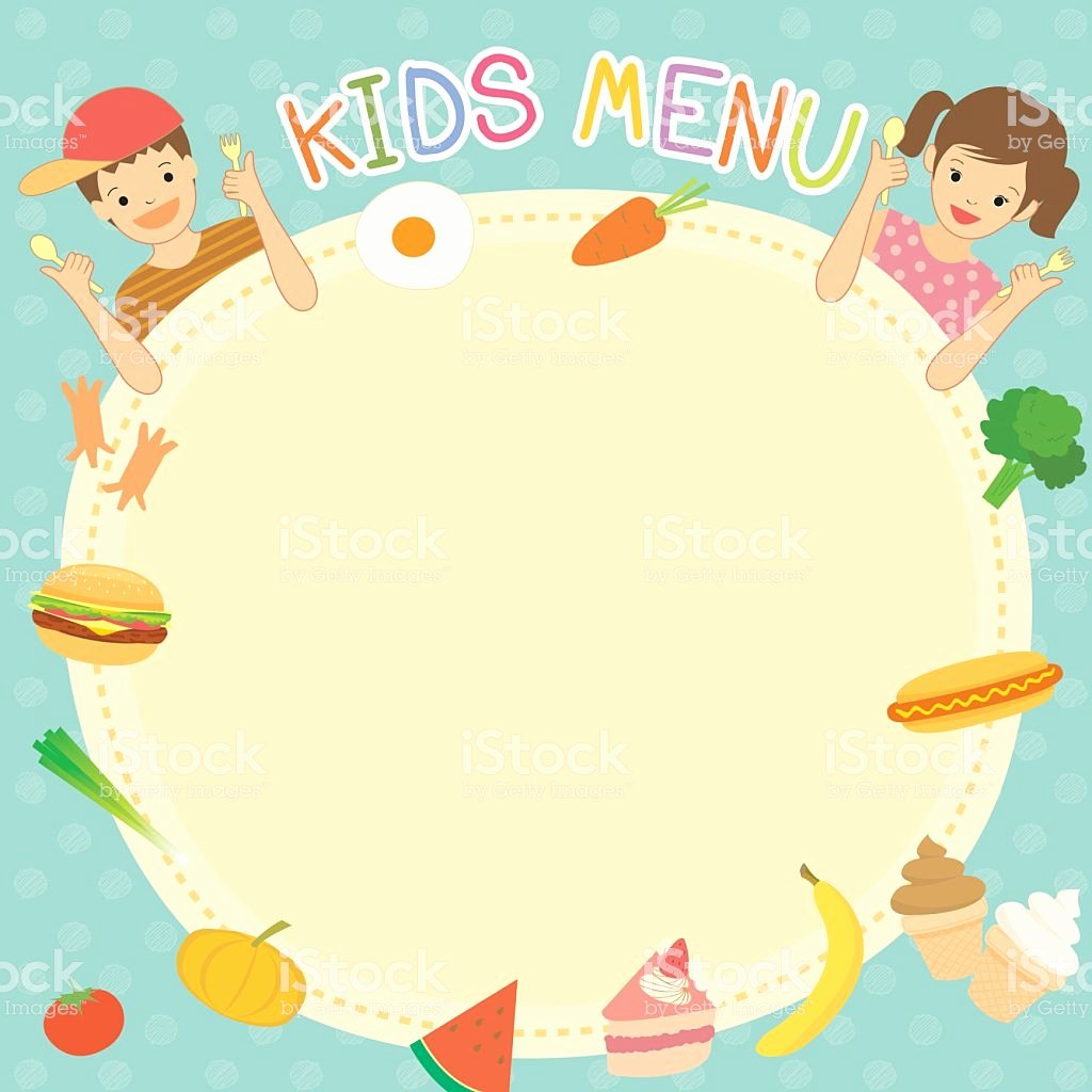 Free Kids Menu Template Elegant Kids Menu Template Stock Vector Art & More Of
