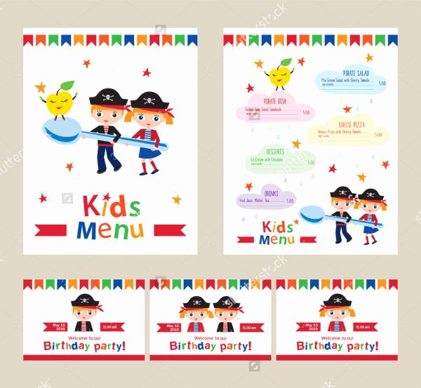 Free Kids Menu Template Fresh 6 Birthday Party Menu Templates