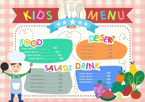 Free Kids Menu Template Fresh Kids Menu Template 25 Free Psd Ai Eps Vector format