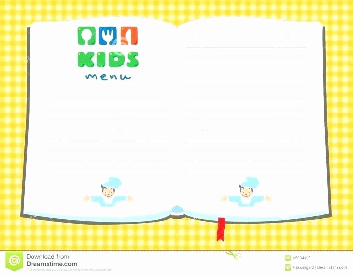 Free Kids Menu Template Fresh Kids Menu Templates Template Pics Free Printable Download