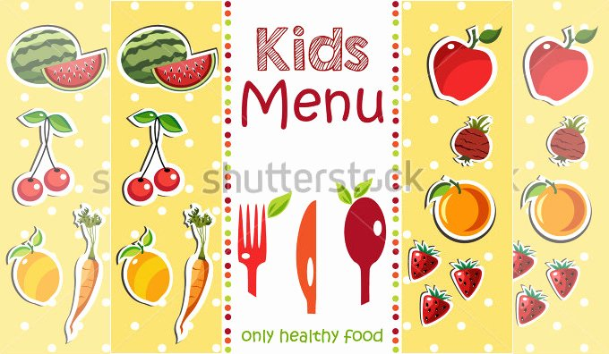 Free Kids Menu Template Unique Kids Menu Templates – 26 Free Psd Eps Documents Download