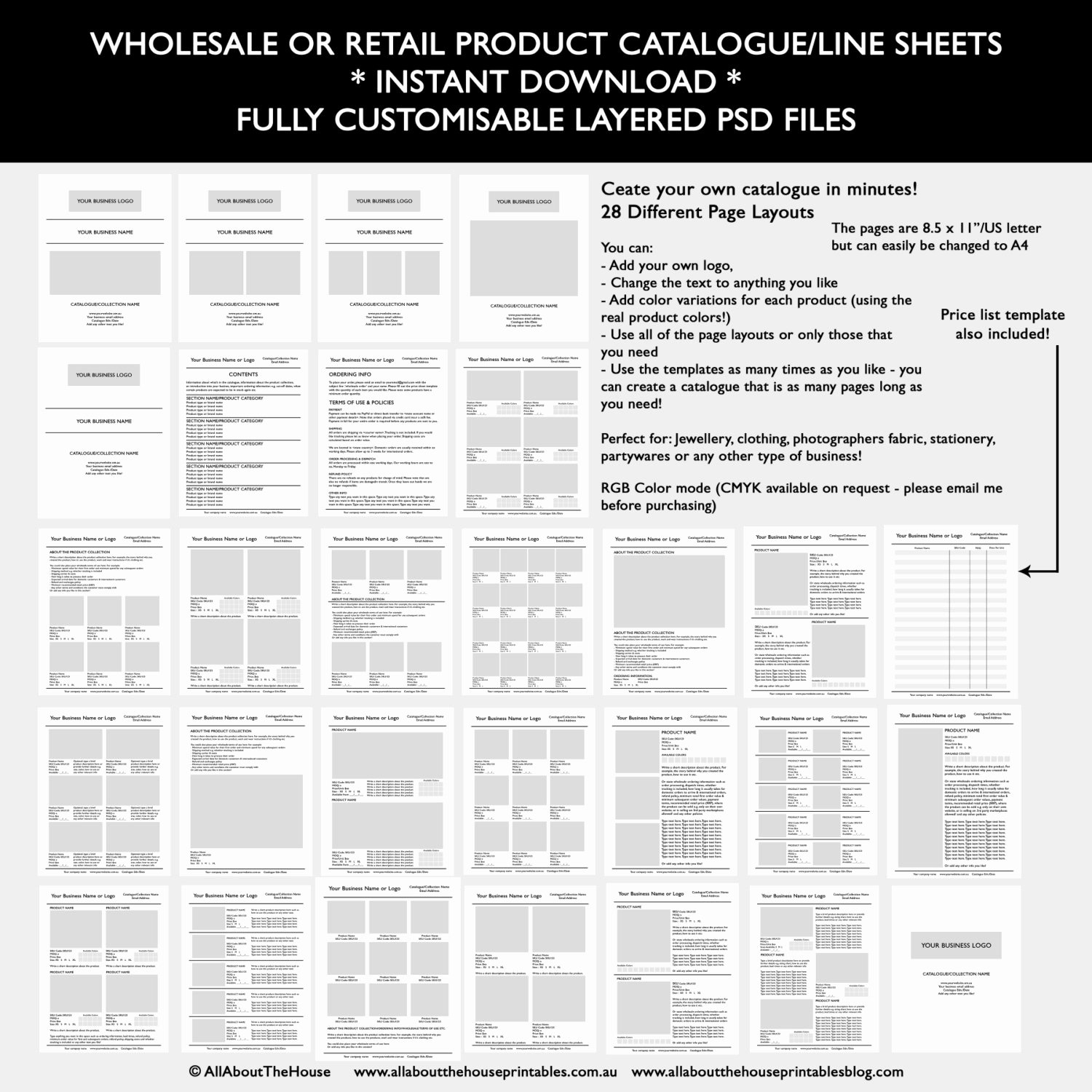 Free Line Sheet Template Inspirational How to Make A Product Catalogue Line Sheet for Your