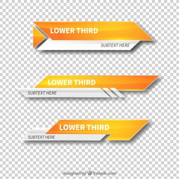 Free Lower Third Template Fresh Modern Lower Third Templates Vector