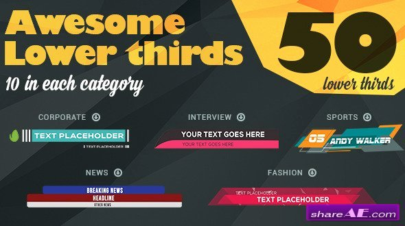 Free Lower Third Template Unique Lower Third after Effects Templates Videohive