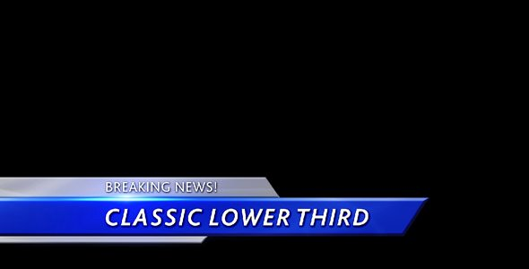 Free Lower Thirds Template Elegant Motion Graphics Classic Lower Third
