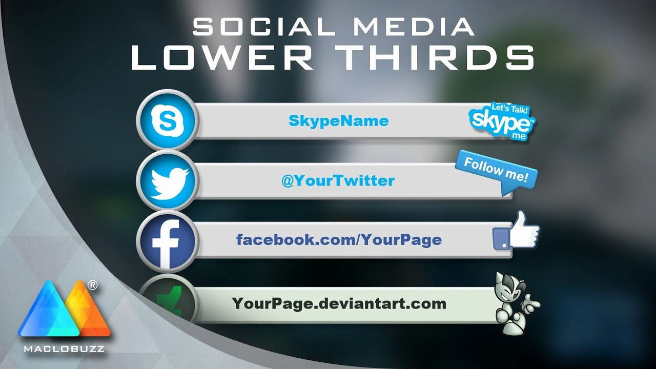 Free Lower Thirds Template Lovely Lower Thirds social Media Free Template sony Vegas Pro