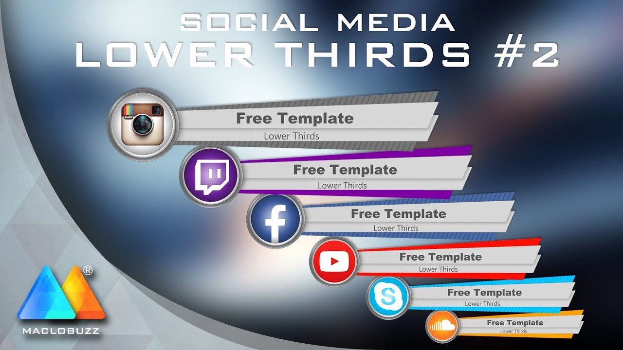 Free Lower Thirds Template New Lower Thirds social Media 2 Free Template sony Vegas