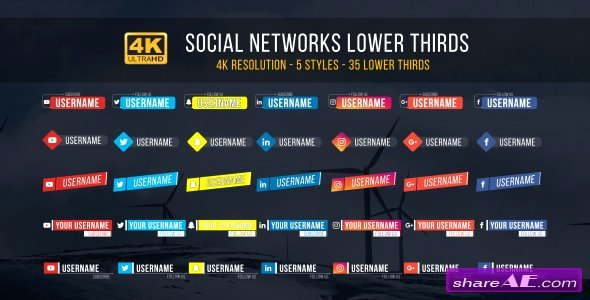 Free Lower Thirds Template New Videohive social Lower Thirds Free after