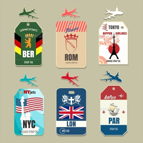 Free Luggage Tag Template Inspirational 29 Luggage Tag Templates for Free Download