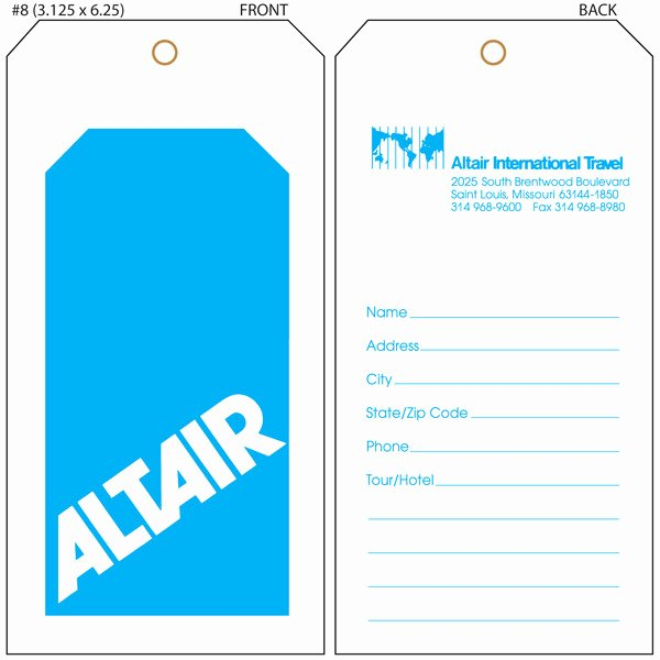 Free Luggage Tag Template Unique Luggage Tag Template