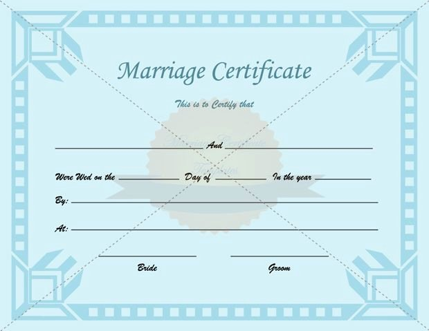 Free Marriage Certificate Template Awesome Certificate Of Marriage Printable Template