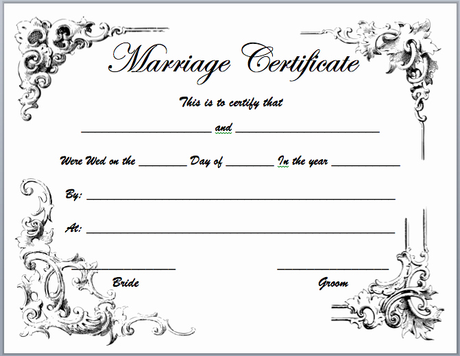 Free Marriage Certificate Template Beautiful Marriage Certificate Template Microsoft Word Templates