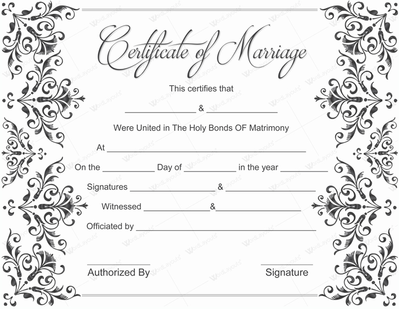 Free Marriage Certificate Template Elegant 10 Beautiful Marriage Certificate Templates to Try This Season