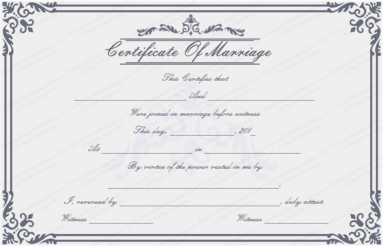 Free Marriage Certificate Template Elegant Dignified Marriage Certificate Template