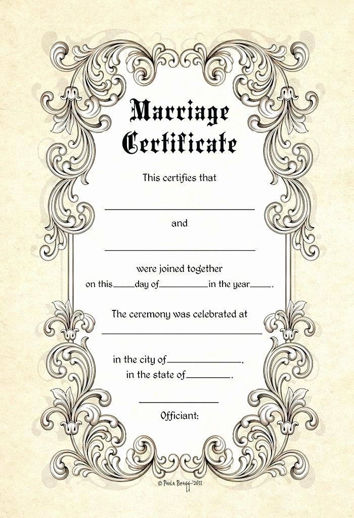 Free Marriage Certificate Template Fresh Wedding Ceremony Certificate Template Printable Keepsake