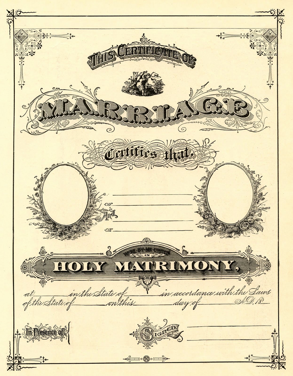 Free Marriage Certificate Template Inspirational Antique Ephemera Clip Art Printable Marriage Certificate