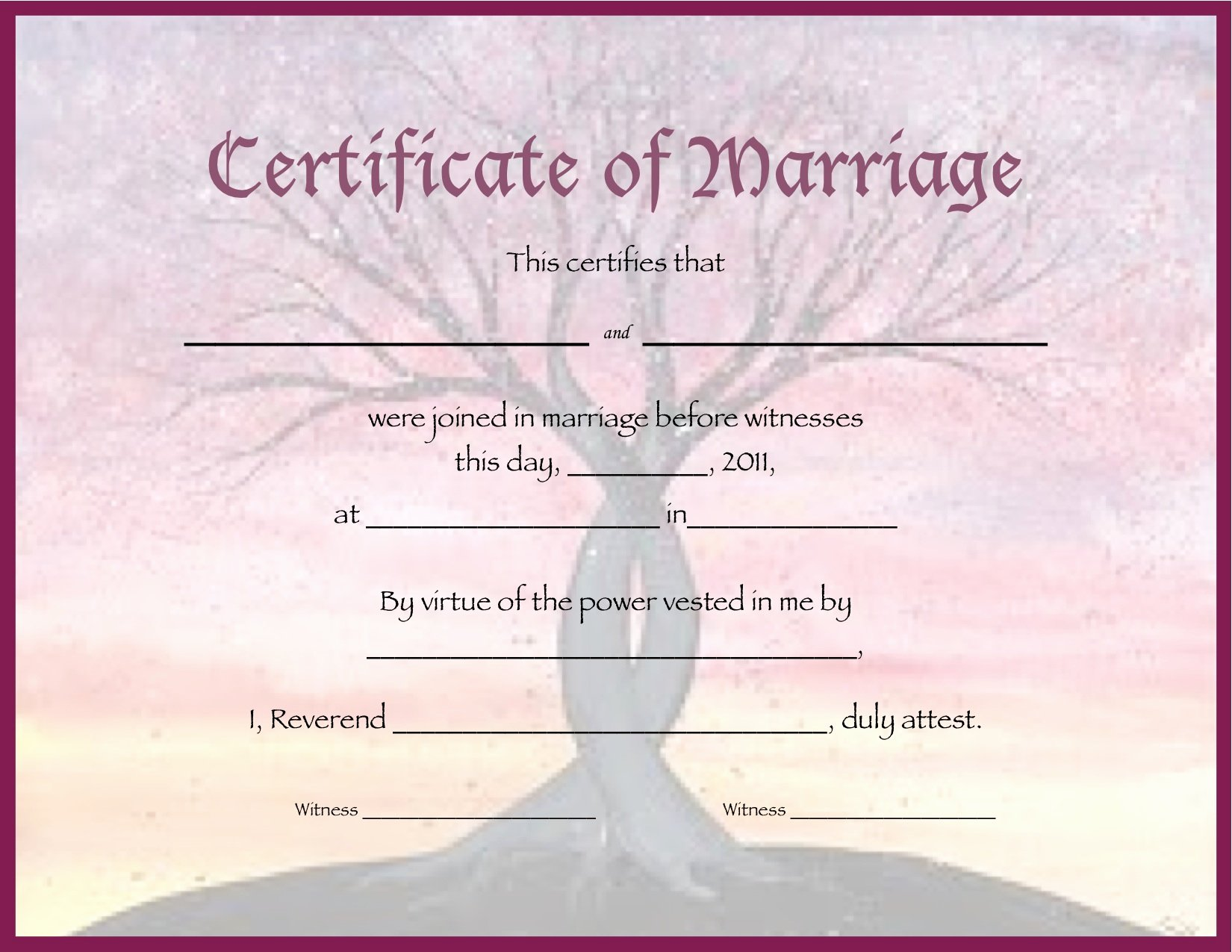 Free Marriage Certificate Template Inspirational the Unique Wedding Ficiate