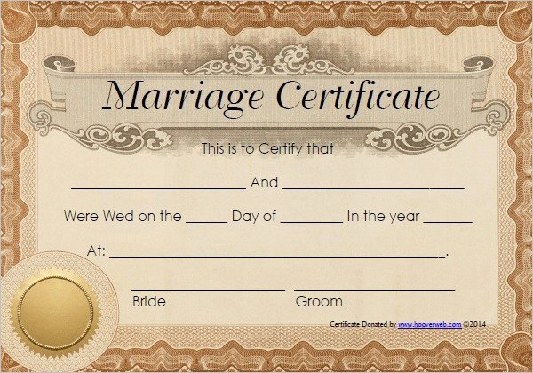 Free Marriage Certificate Template Lovely 42 Free Marriage Certificate Templates Word Pdf Doc