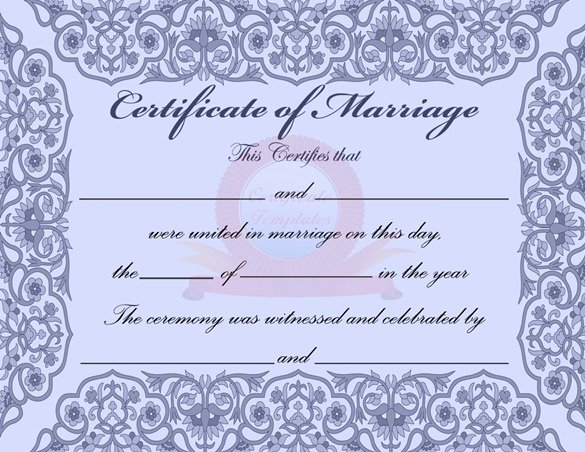 Free Marriage Certificate Template Lovely Word Certificate Template 49 Free Download Samples