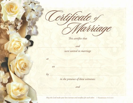 Free Marriage Certificate Template New Marriage Certificate Marriage and Certificate Templates