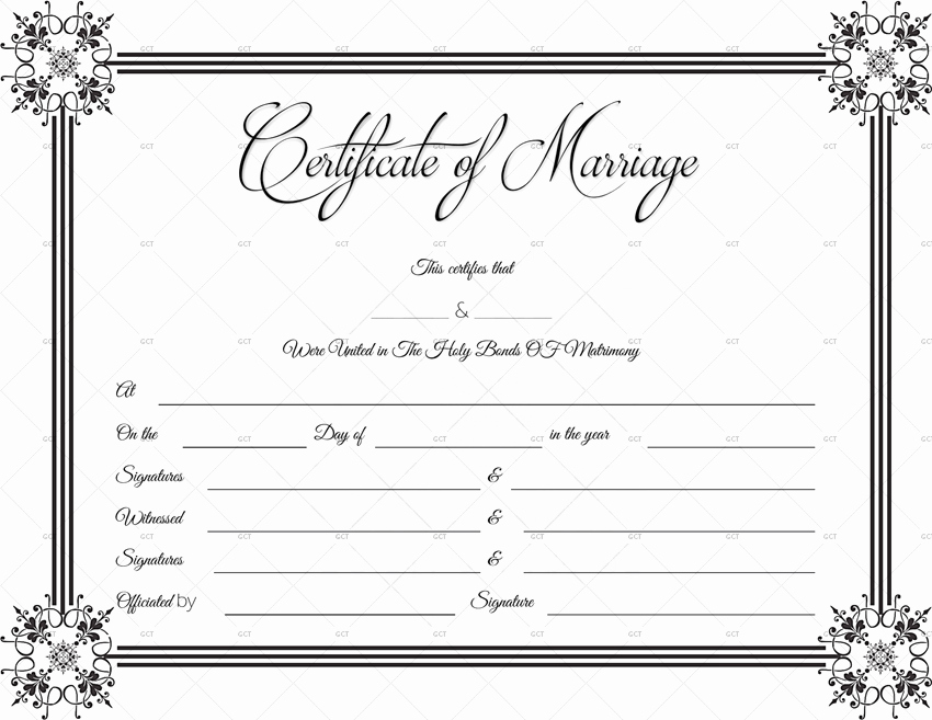 Free Marriage Certificate Template New Suave Marriage Certificate format for Word