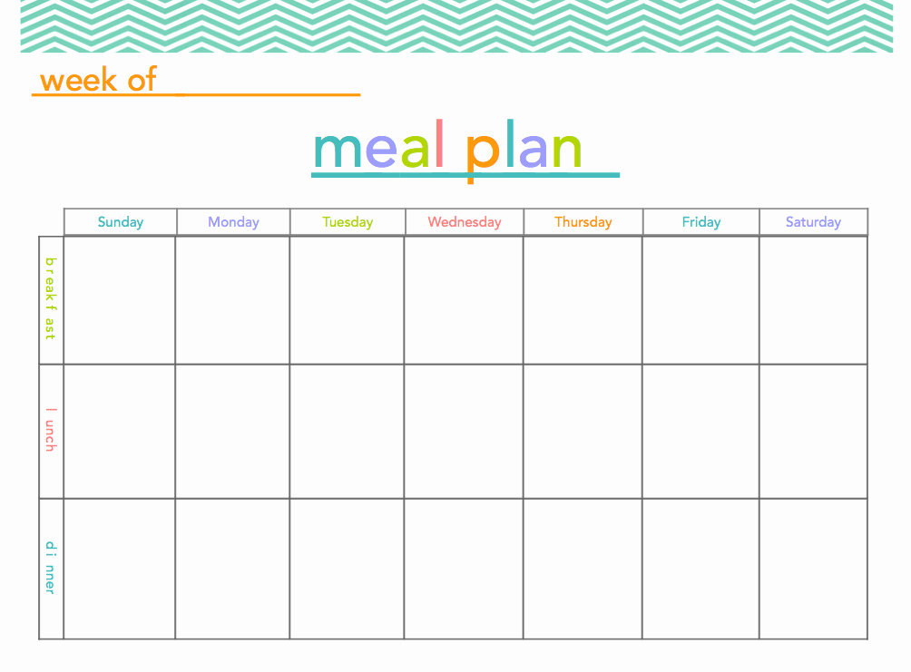 Free Meal Planner Template Best Of Free Meal Plan Printable Makes Meal Planning A Little