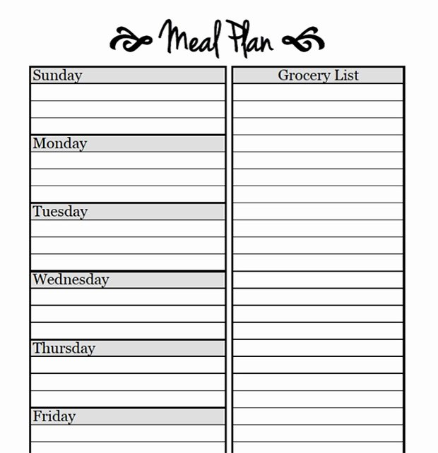 Free Meal Planner Template Lovely Printable Meal Planning Templates to Simplify Your Life