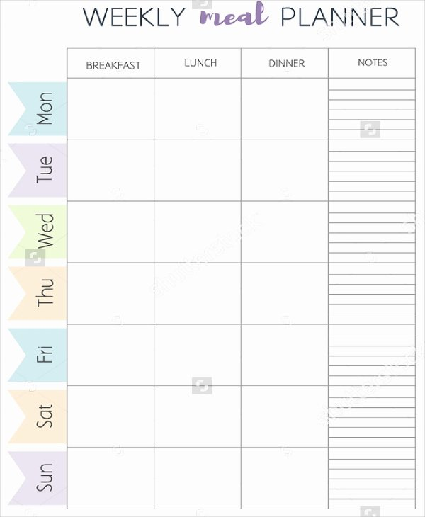 Free Meal Planner Template New Meal Plan Template 21 Free Word Pdf Psd Vector
