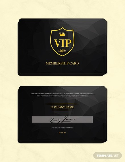 Free Membership Card Template Awesome Free Club Vip Membership Card Template Download 233