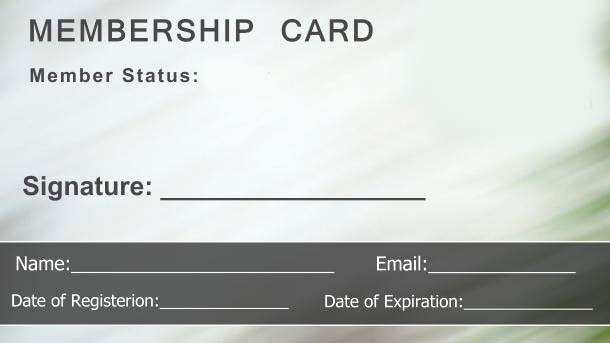 Free Membership Card Template Awesome Free Membership Card Template