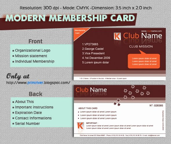 Free Membership Card Template Beautiful Modern Membership Card Template for Free