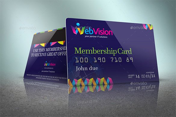 Free Membership Card Template Lovely 35 Membership Card Designs & Templates
