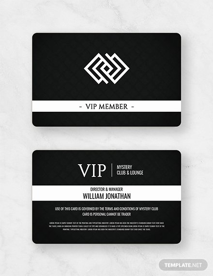 Free Membership Card Template Luxury Free Club Vip Membership Card Template Download 233