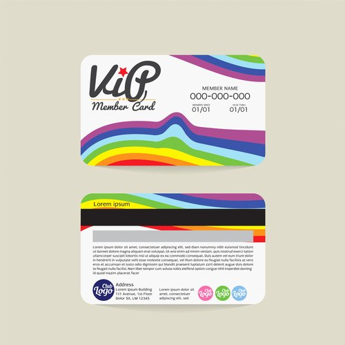 Free Membership Card Template New Vip Member Card Template Vector 15 Free