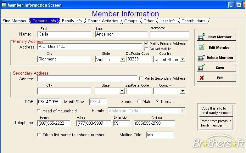 Free Membership Database Template New Download Free Church Fice Helper Church Fice Helper 3