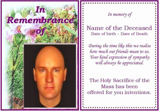 Free Memorial Card Template Awesome 6 Free Funeral Program Templates Microsoft Word Website