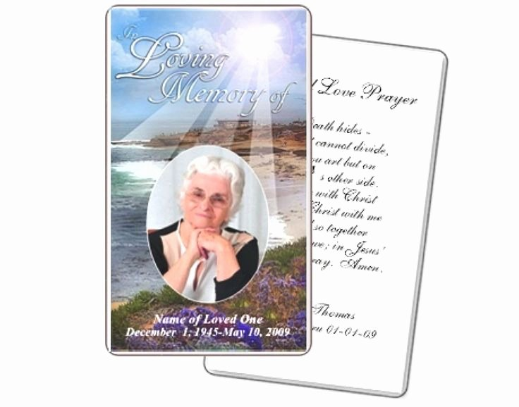 Free Memorial Card Template Awesome Best 25 Funeral Prayers Ideas On Pinterest