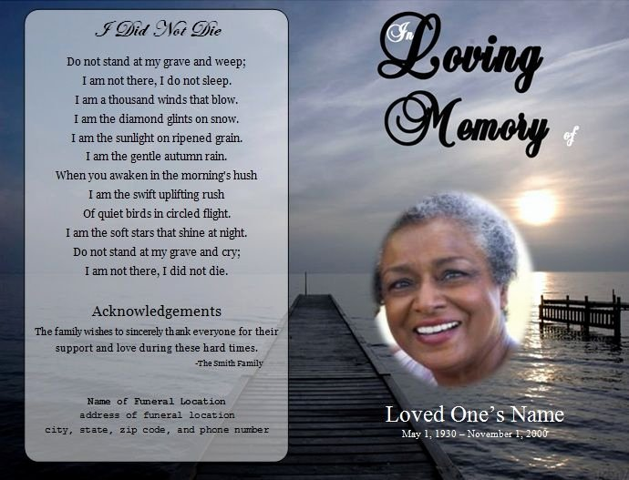 Free Memorial Card Template Fresh 73 Best Printable Funeral Program Templates Images On