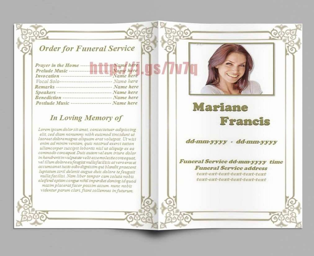 Free Memorial Card Template Fresh Lovely Memorial Cards for Funeral Template Free