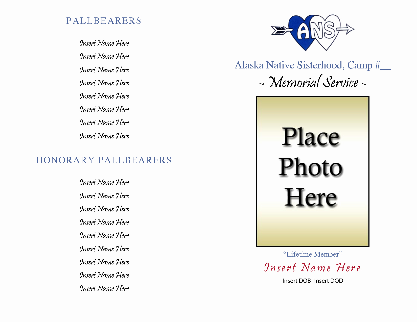 Free Memorial Card Template Luxury 10 Best Of Free Printable Memorial Templates Free