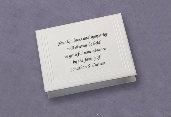 Free Memorial Card Template New 26 Funeral Thank You Cards Psd Ai Eps