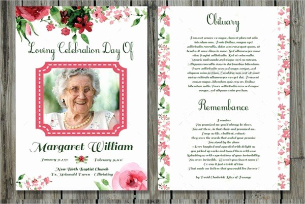 Free Memorial Cards Template Beautiful Funeral Prayer Cards Templates Free Download 20 High