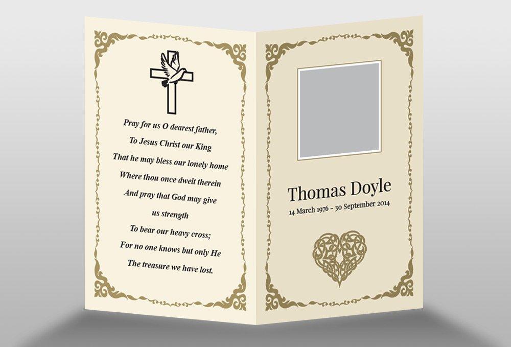 Free Memorial Cards Template Elegant Free Memorial Card Template In Indesign format Download