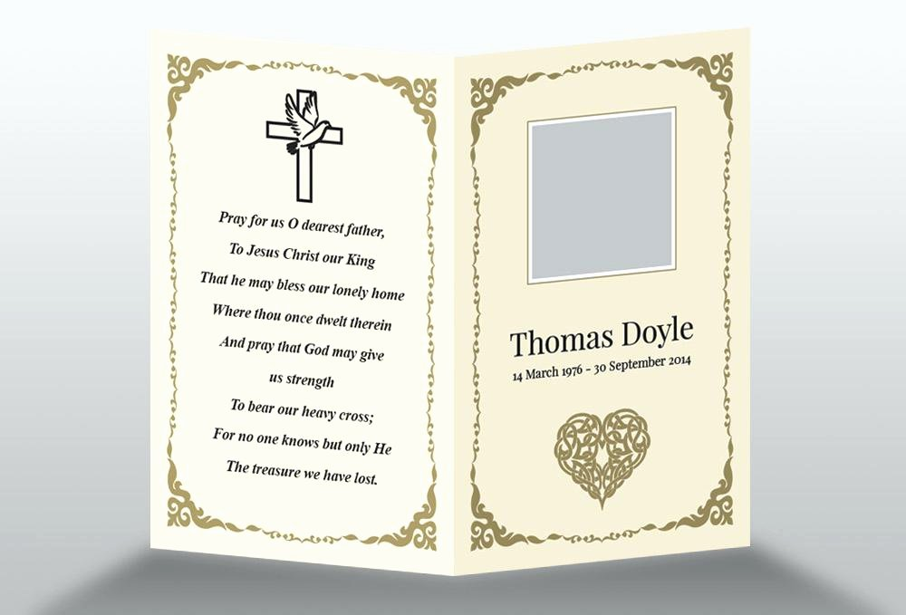Free Memorial Cards Template Elegant Memorial Cards for Funeral Template Free Best Invitation