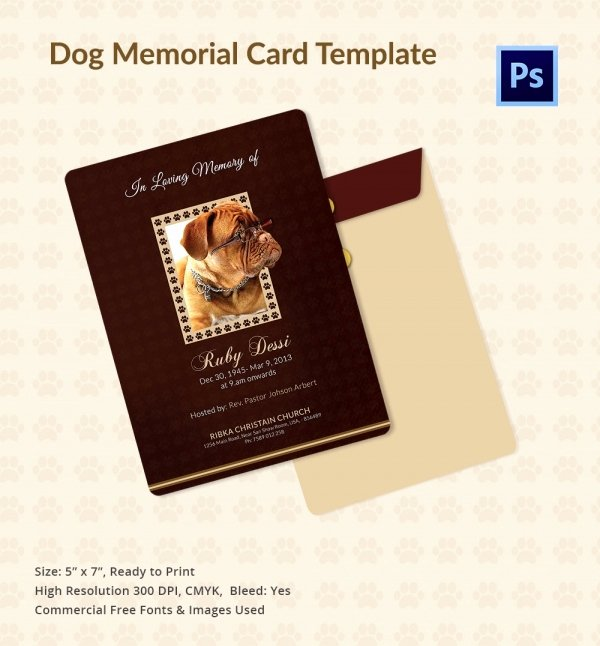 Free Memorial Cards Template New 31 Funeral Program Templates – Free Word Pdf Psd